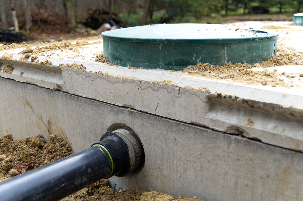 hook up septic tank house